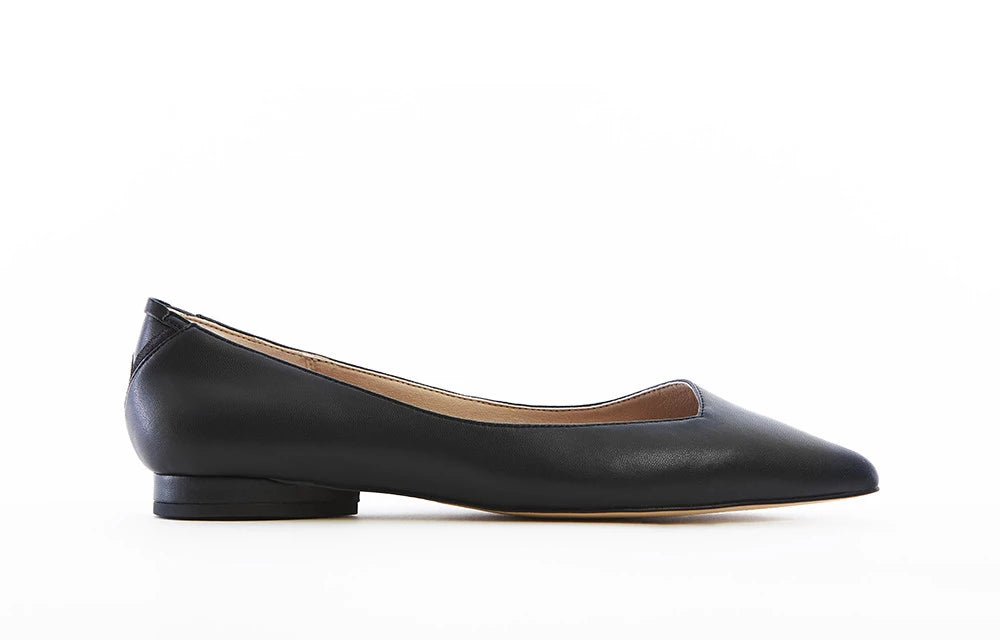 VICKY Midnight Black Vegan Flats