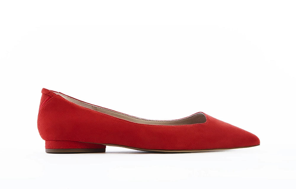 VICKY red pointed toe flats