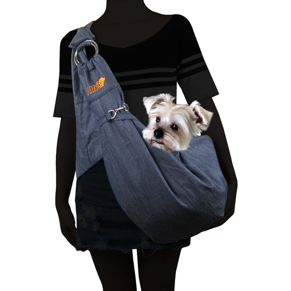 Chico Denim Pet Sling Carrier with Adjustable Strap