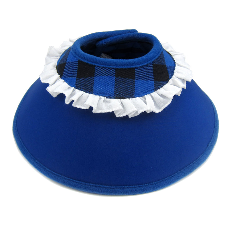 Candace Flannel Soft Recovery Collar Blue