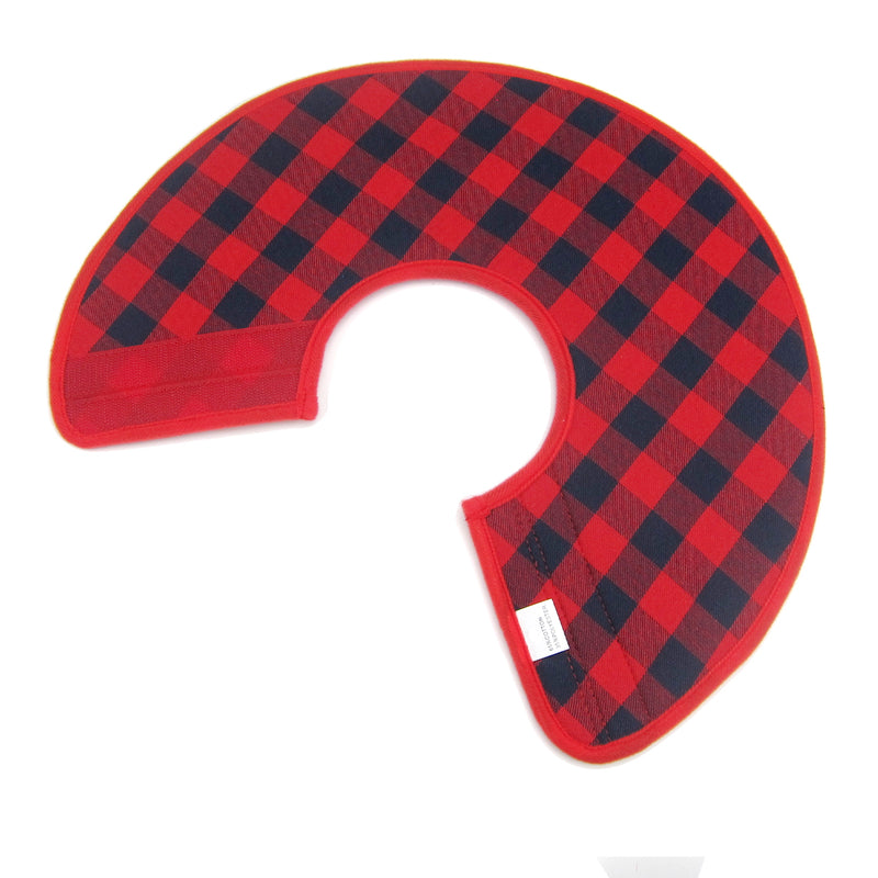 Candace Flannel Soft Recovery Collar Red