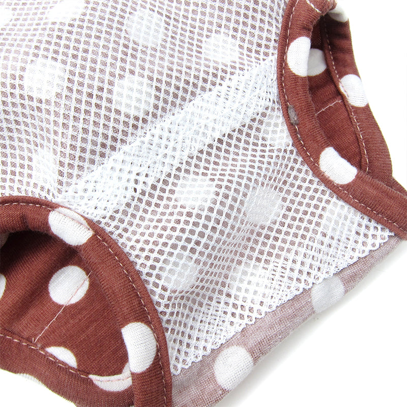 Frona Diaper Dog Sanitary Pantie with Suspender Brown