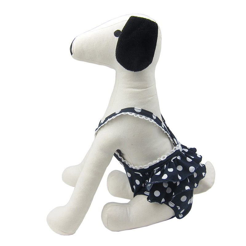 Frona Diaper Dog Sanitary Pantie with Suspender Navy