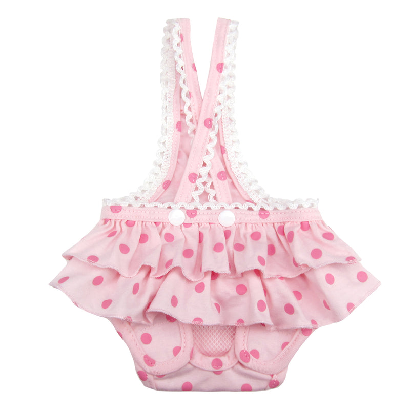 Frona Diaper Dog Sanitary Pantie with Suspender Pink