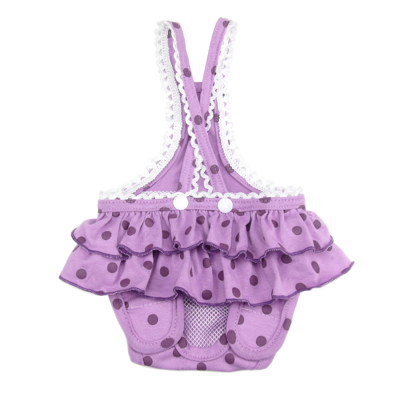 Frona Diaper Dog Sanitary Pantie with Suspender Purple