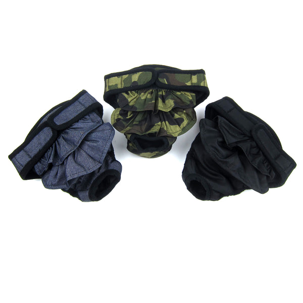 Maxine Sanitary 3-Piece Set Pantie with Velcro Closure