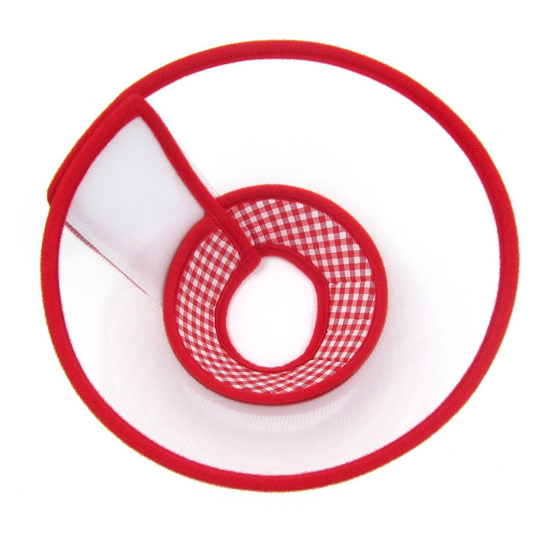 Zumi Recovery Collar with Soft Edge V2 Red - Velcro Closure