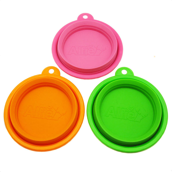 Ros Silicone 3-Piece Set Expandable/Collapsible Travel Bowl