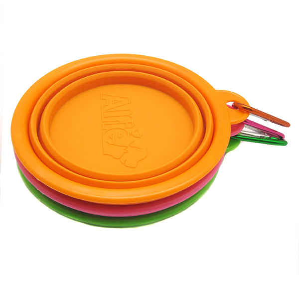 Rosh Silicone 3-Piece Set Expandable/Collapsible Bowl with Carabineer