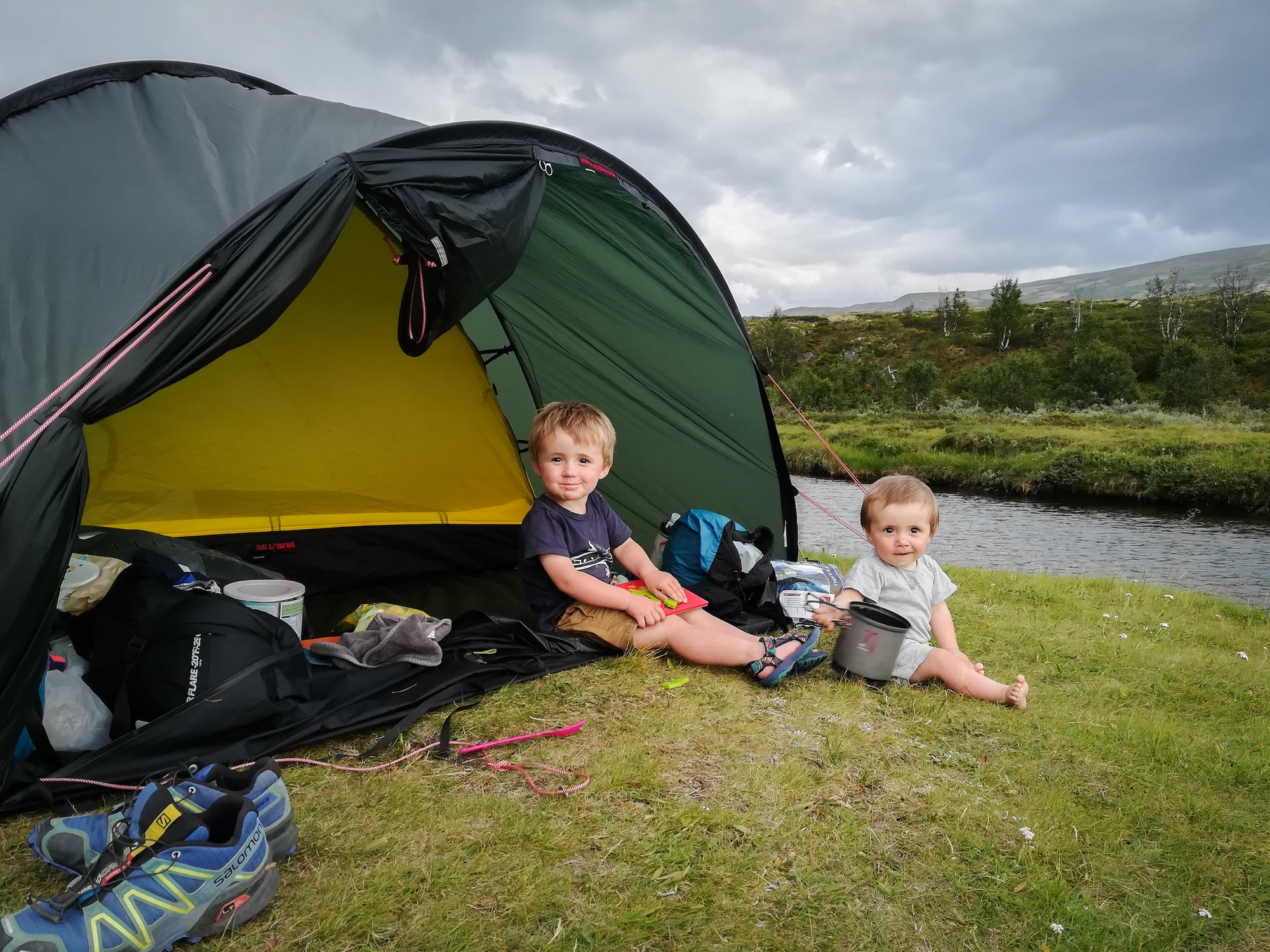 Tour de Dovre - bike packing with kids