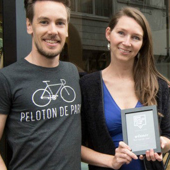 Vincent Van Parys and Wendy Janssens, owners Peloton de Paris