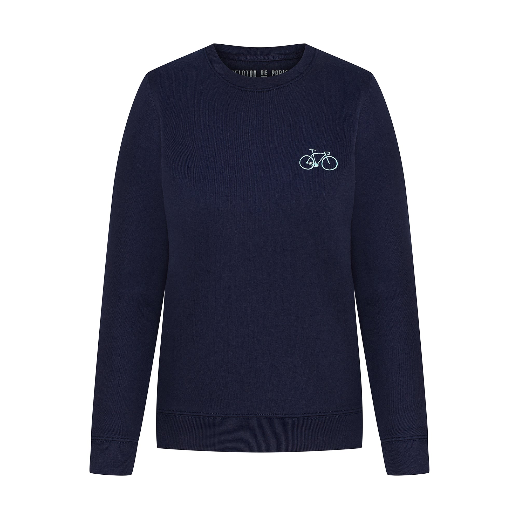 Bike Sweater Navy Embroidered Women