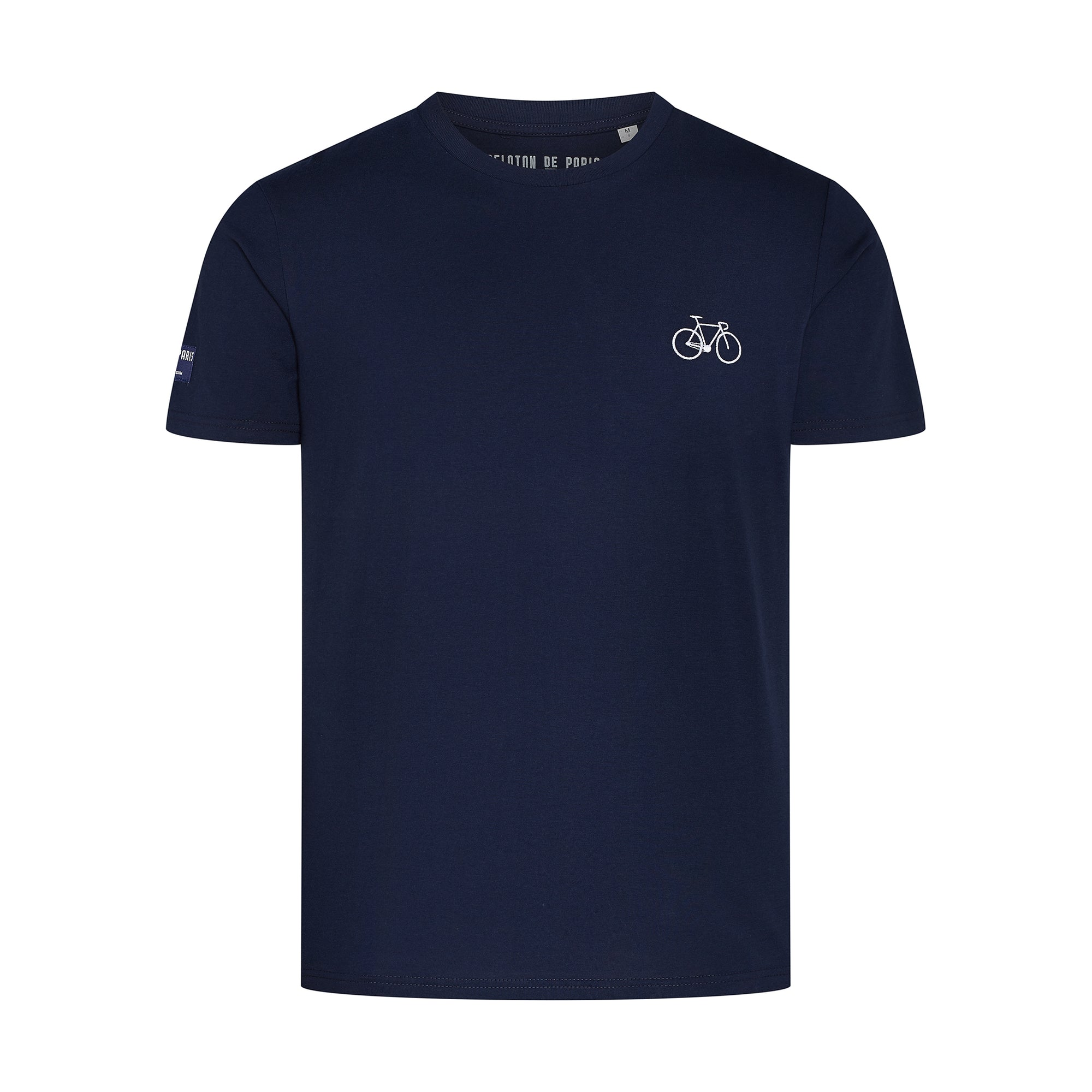Bike T-Shirt Navy Embroidered