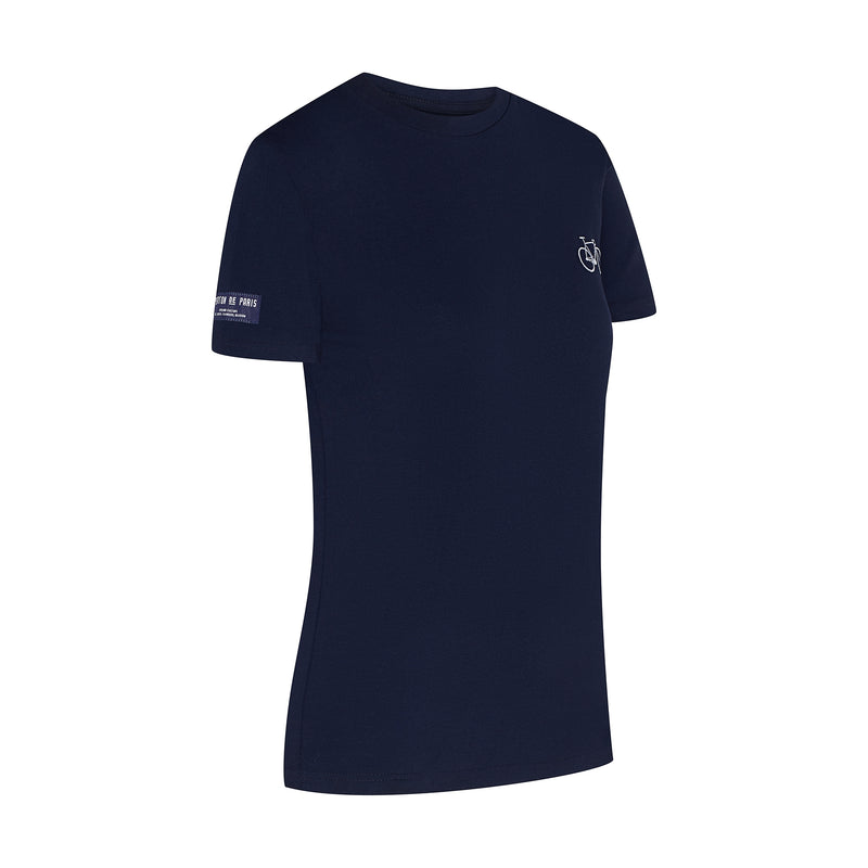 Bike T-Shirt Navy Embroidered Women