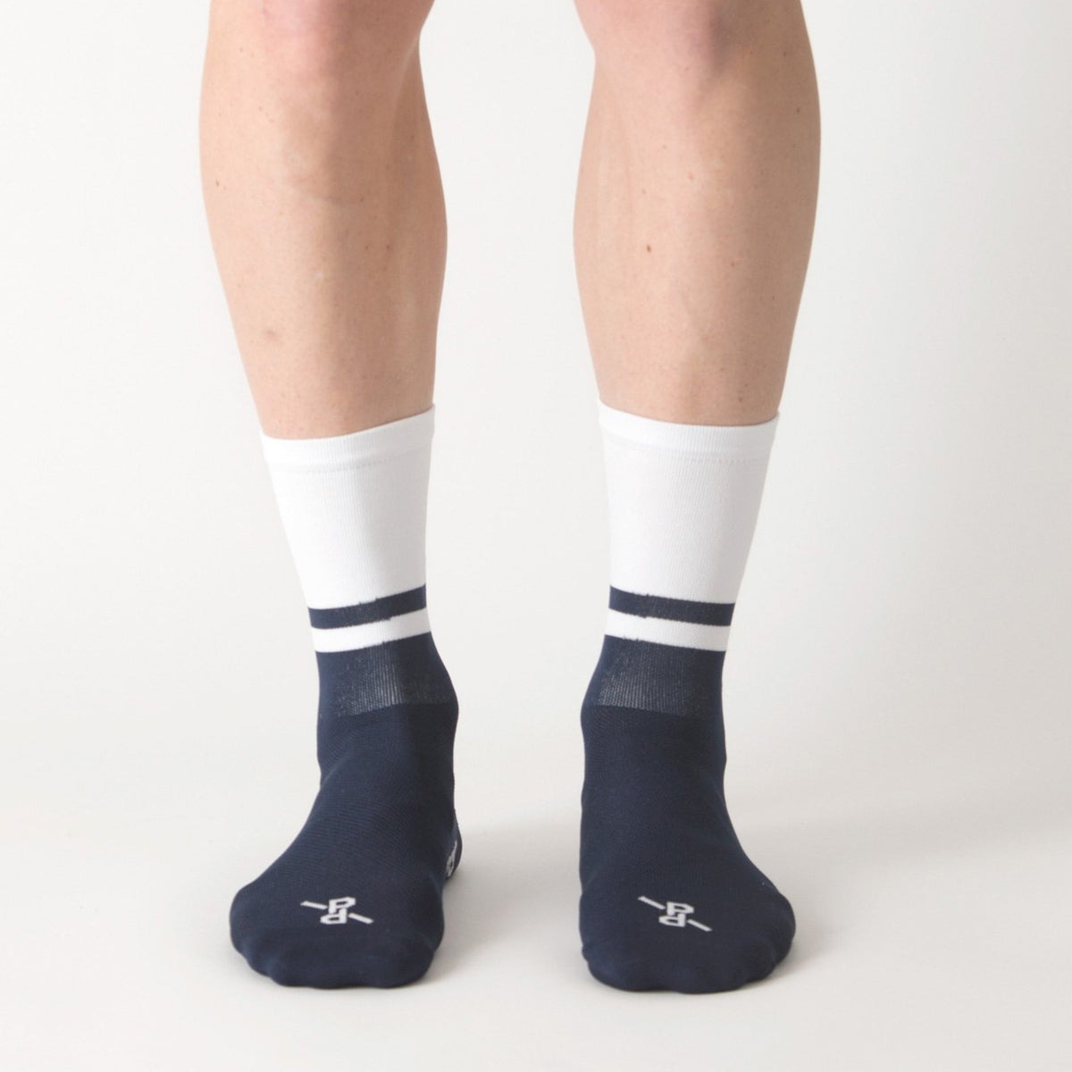 Two-Tone White/Navy PLTN Socks