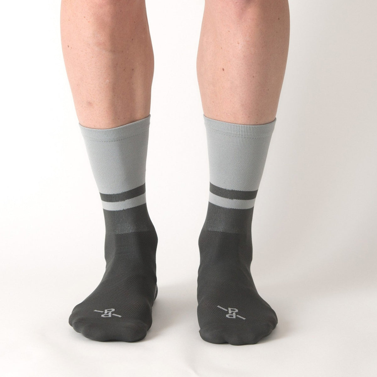 Two-Tone Light Grey/Grey PLTN Socks