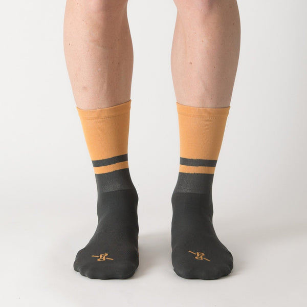 Two-Tone Ochre/Grey PLTN Socks