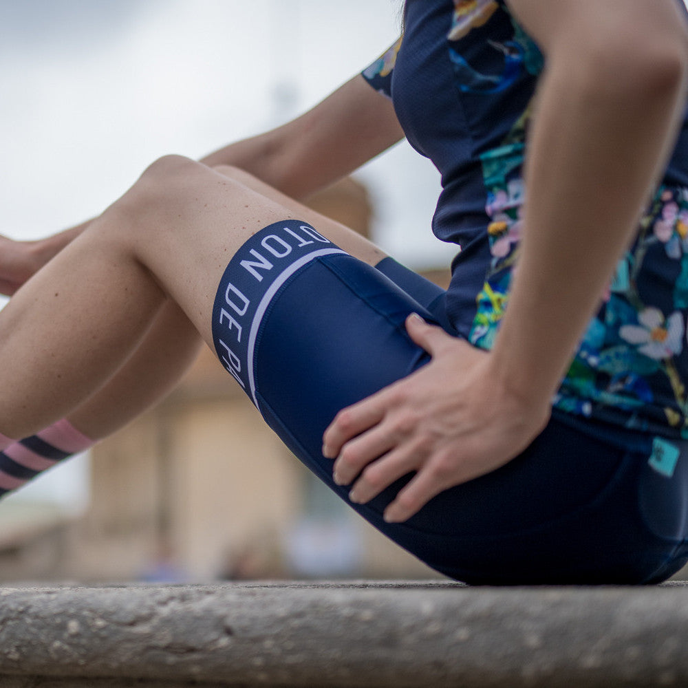 Classic Stripe Navy Women's Bib - Peloton de Paris - Bibshorts - 6