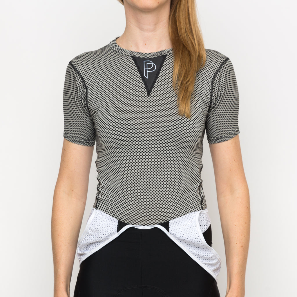 Short Sleeve Women Base Layer Grey