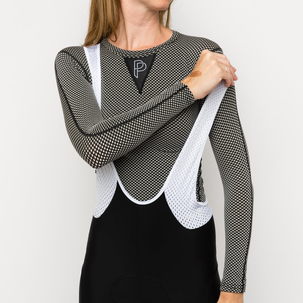 Long Sleeve Women Base Layer Grey