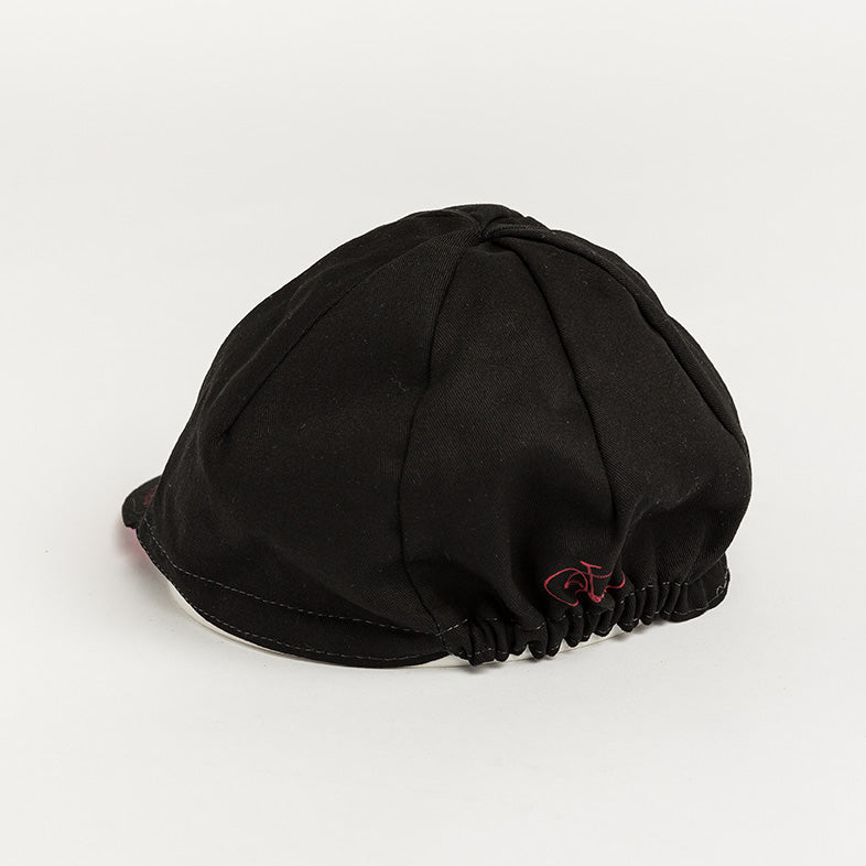 Black Flower Cycling Cap