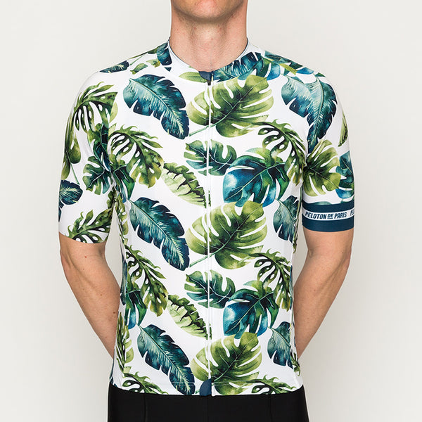 Tropical Leafs Domestique Short Sleeve Jersey :  M