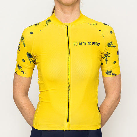 Tropical Leafs Domestique Short Sleeve Jersey Women - PELOTON DE PARIS 5c73a0f92