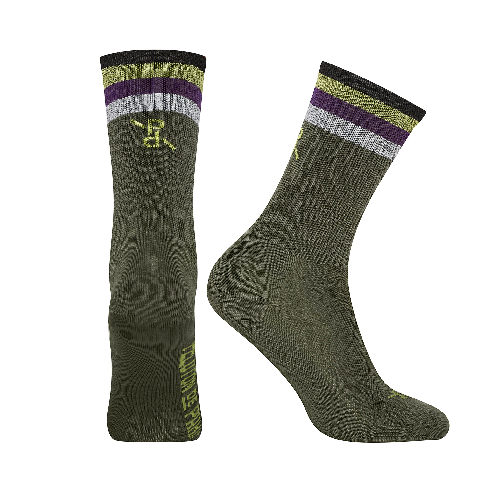 Popsicle Khaki/Yellow PLTN Socks