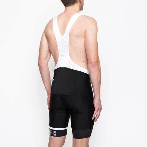 Classic Stripe Black Men's Bib - Peloton de Paris - Bibshorts - 1
