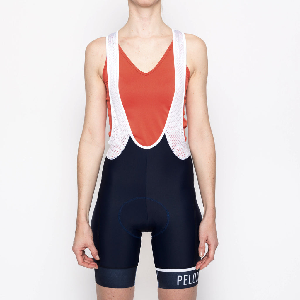 Classic Stripe Navy Women's Bib - Peloton de Paris - Bibshorts - 3