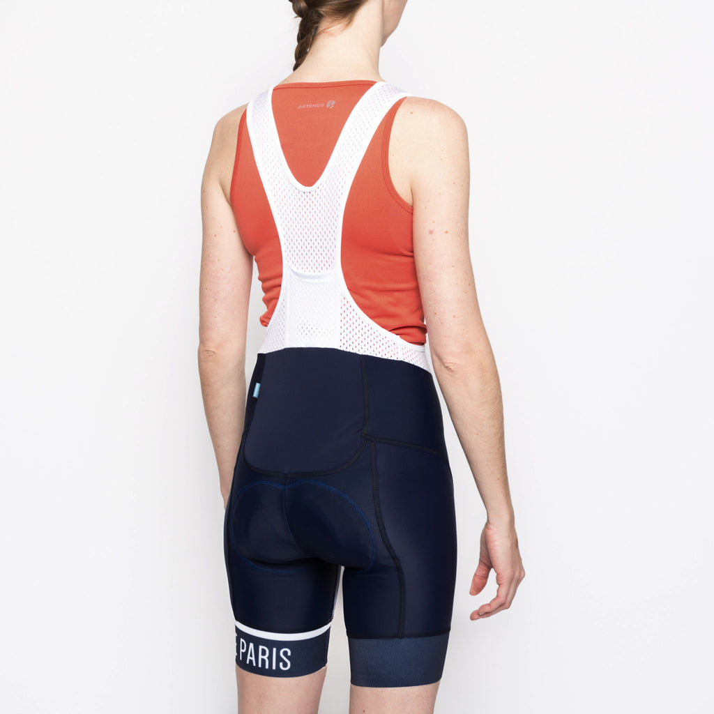 Classic Stripe Navy Women's Bib - Peloton de Paris - Bibshorts - 4