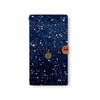 the front top view of midori style traveler's notebook with Galaxy Universe design