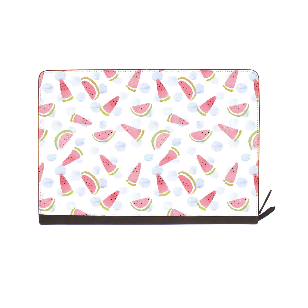 front view of personalized Macbook carry bag case with Fruit Red design