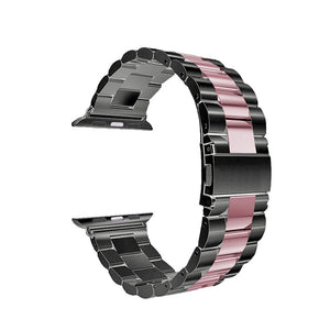 Stainless Steel Band for Apple Watch - Black Pink