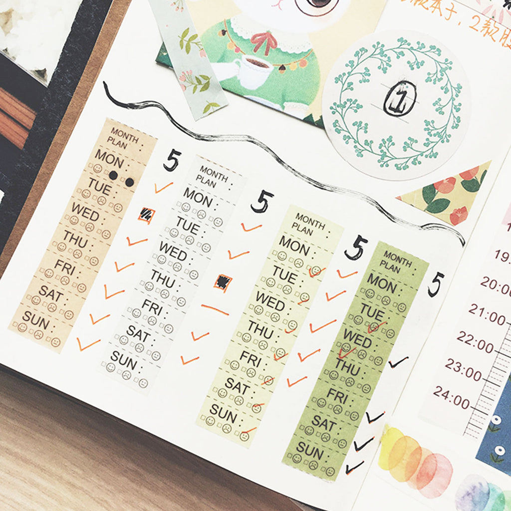 Washi Tape - Weekday