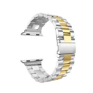 Stainless Steel Band for Apple Watch - Silver Gold