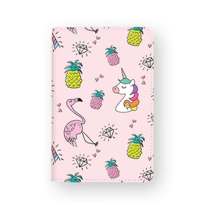 Travel Wallet - Flamingo And Unicorn