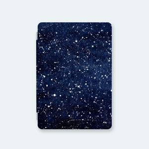 front view personalized iPad case smart cover with star spangled galaxy design