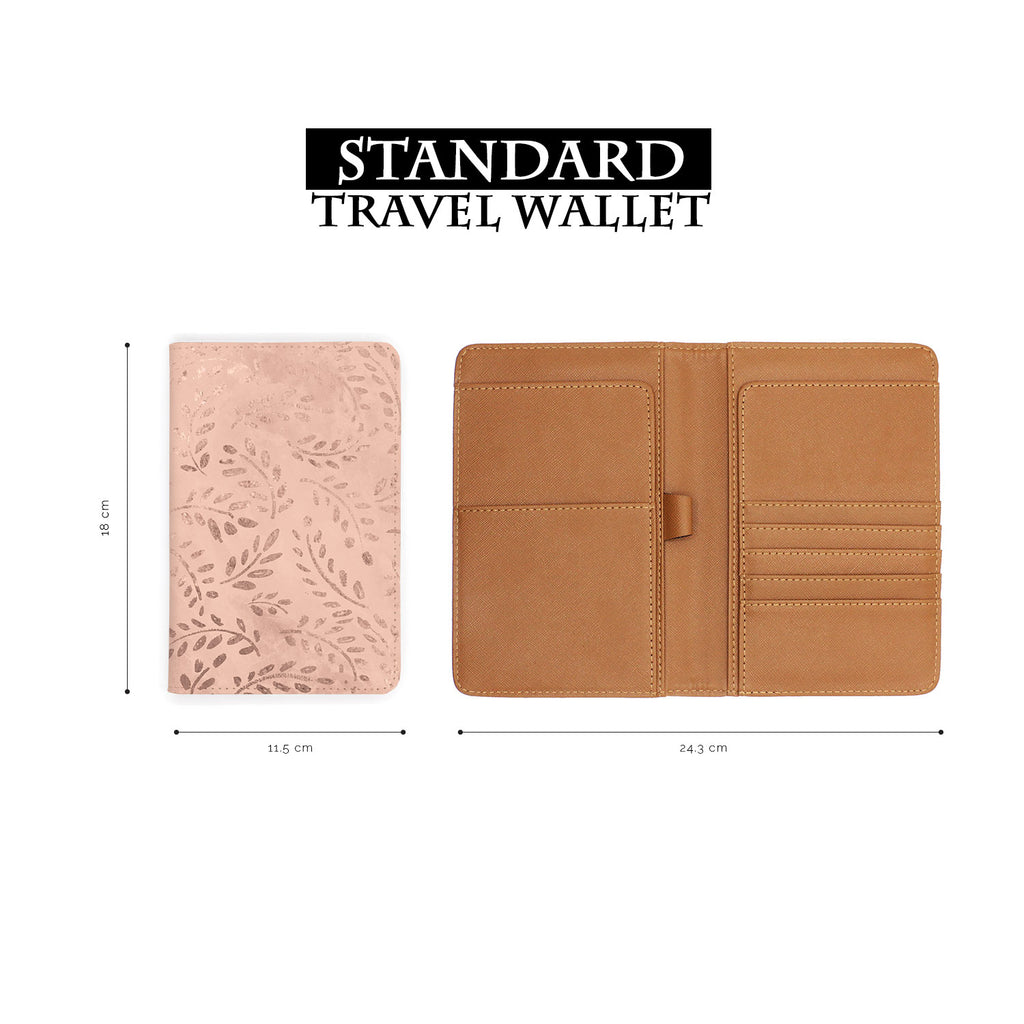 standard size of personalized RFID blocking passport travel wallet with Magical Textured Pattern design