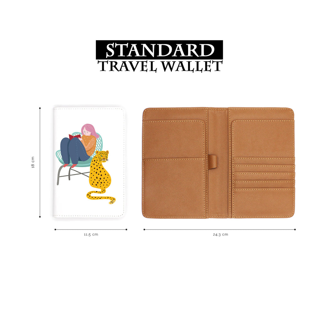 standard size of personalized RFID blocking passport travel wallet with Urban Jungle design