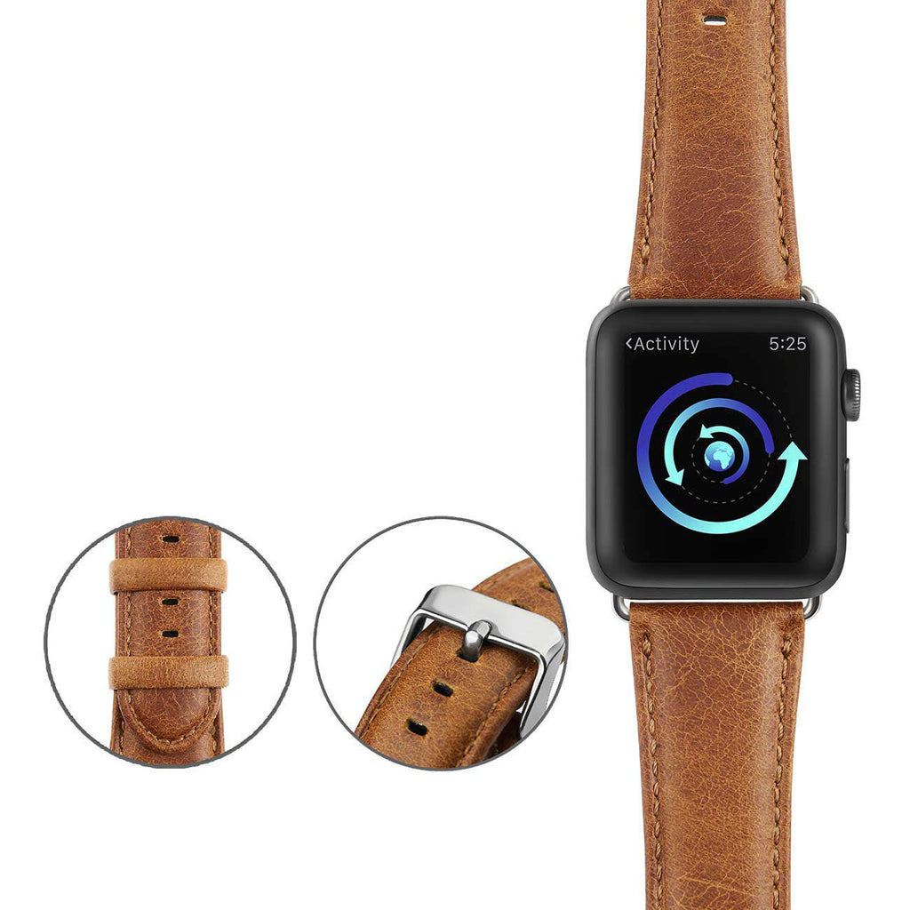 Genuine Leather Band for Apple Watch - Brown
