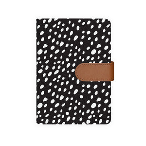 front view of personalized personal organiser with Polka Dot design