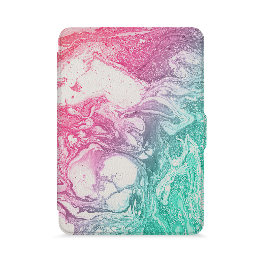 front view of personalized kindle paperwhite case with Abstract Oil Painting design - swap