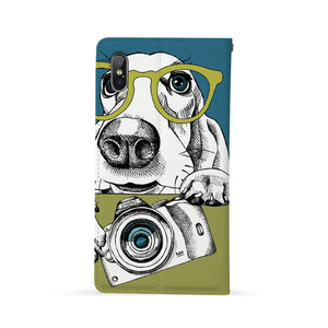 Back Side of Personalized Huawei Wallet Case with Dog design - swap