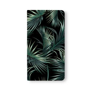 Front Side of Personalized Samsung Galaxy Wallet Case with FlowerBlack design