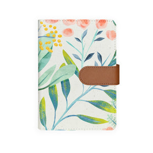 front view of personalized personal organiser with Pink Flower design