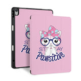 front and back view of personalized iPad case with pencil holder and 05 design