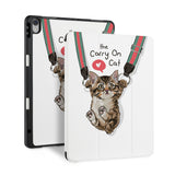 front and back view of personalized iPad case with pencil holder and 08 design