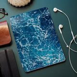 personalized iPad case smart cover with ocean waves design on the office desk