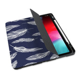 personalized iPad case with pencil holder and Feather design - swap